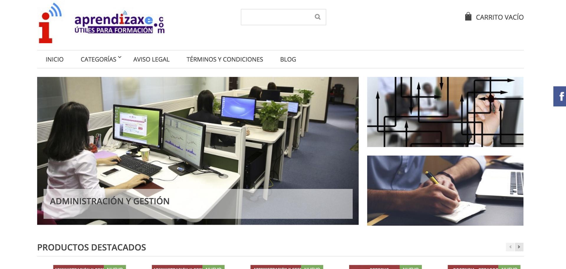 web de aprendizaxe e-learning por xeral.net