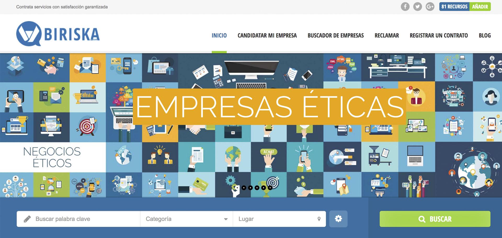 biriska diseñada por xeral.net nuevo modelo de negocio