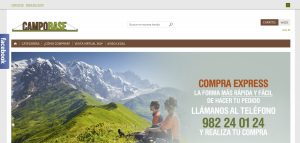 web de campobase lugo tienda online por xeral.net