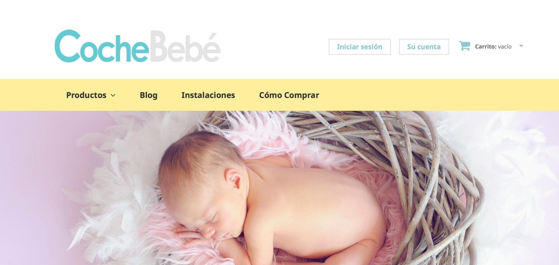 web de cochebebe en Lugo diseñada por Xeral.net