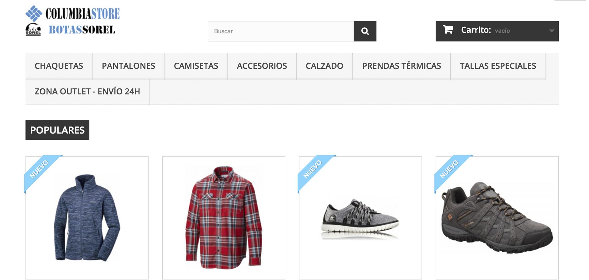 web de columbia store lugo tienda online por xeral.net