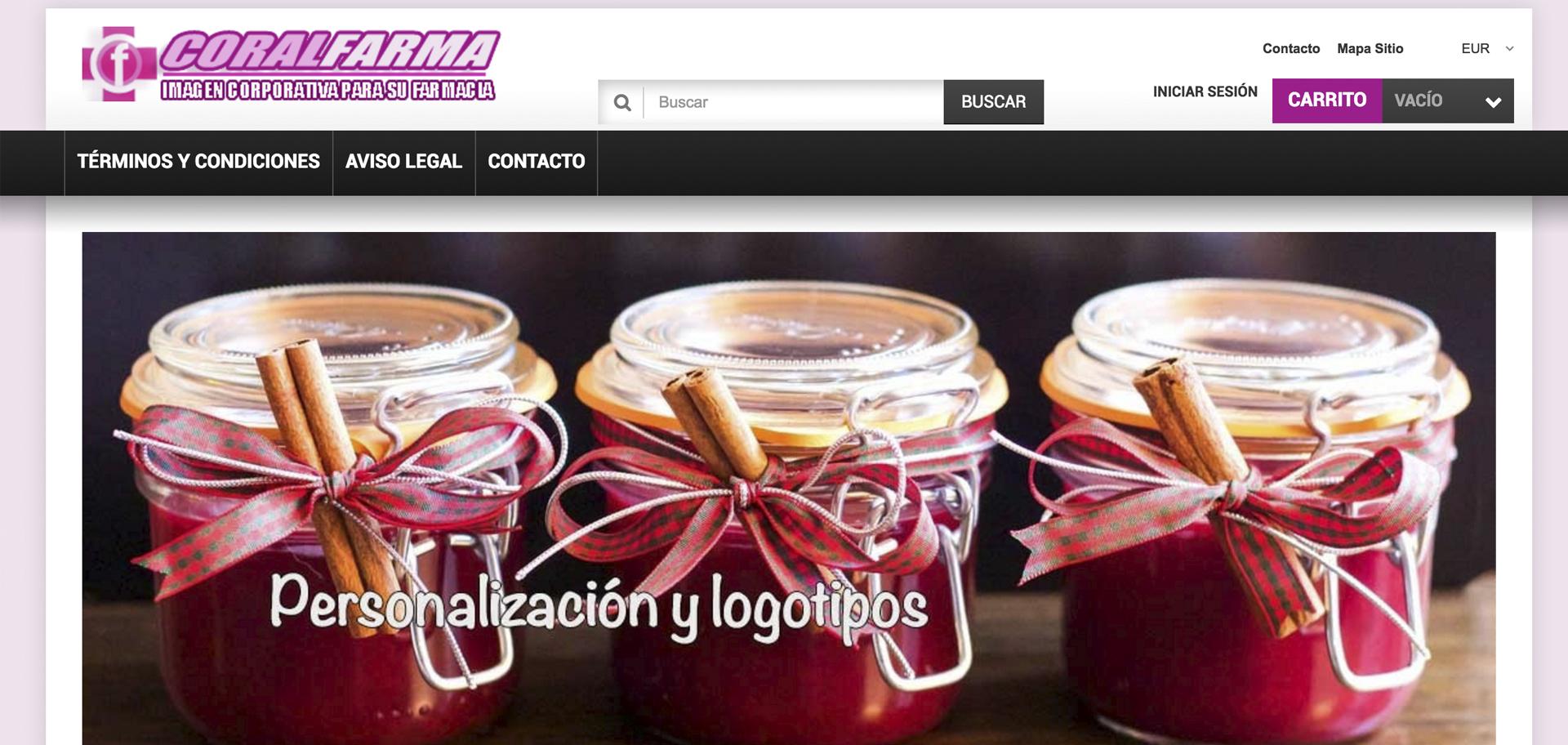 web corporativa de coralfarma diseñada por xeral.net