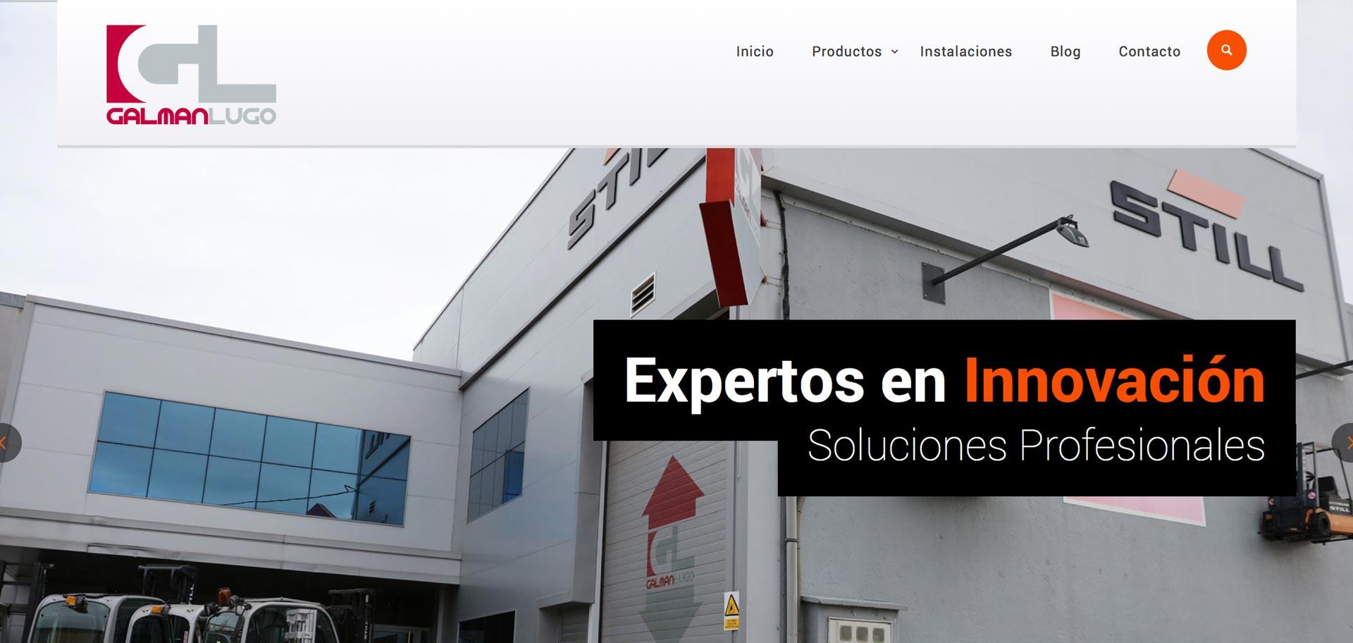 web corporativa de galman en Lugo diseñada por xeral.net