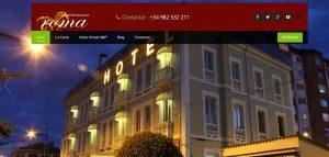 web corporativa de hotelroma por xeral.net