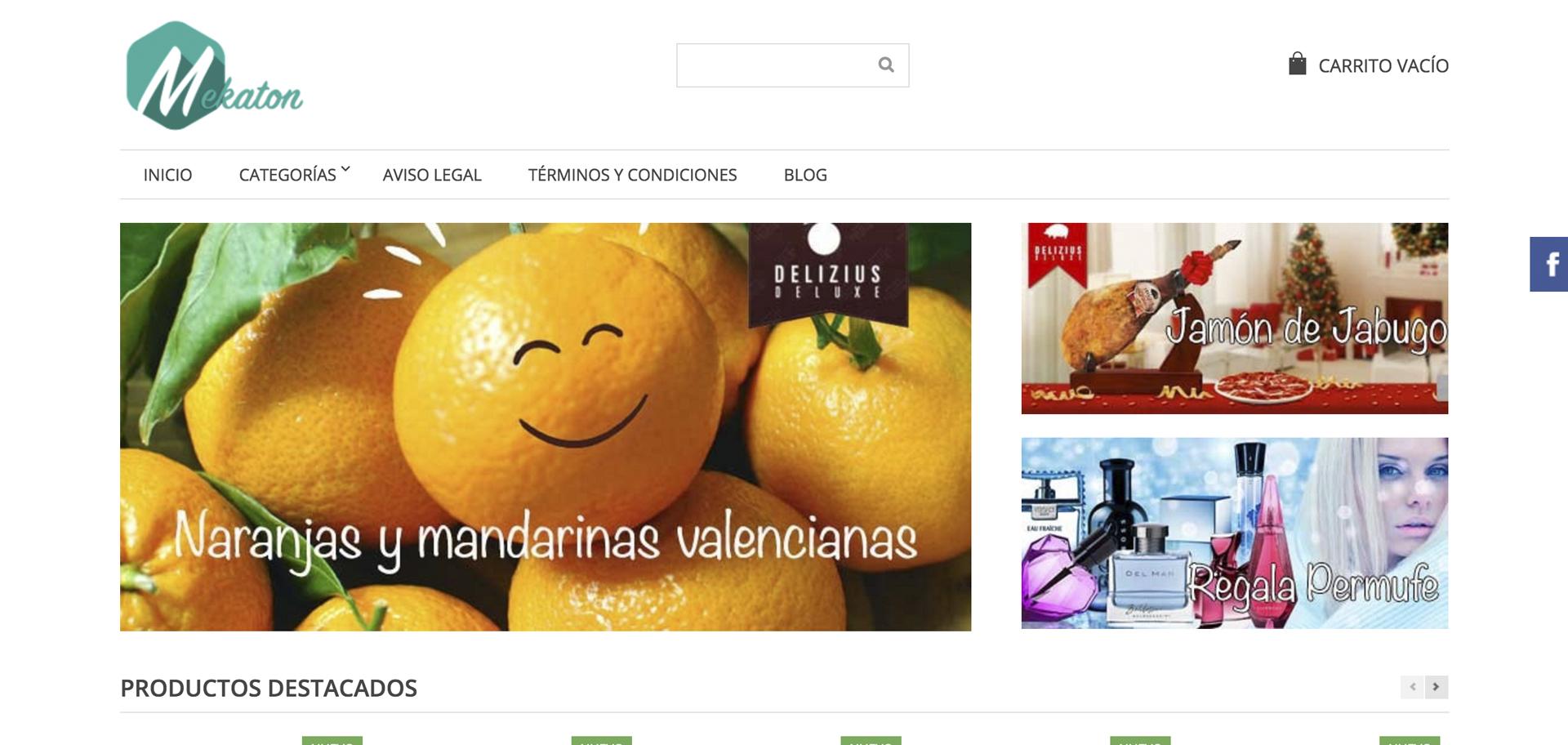web de mekaton diseñado por xeral.net