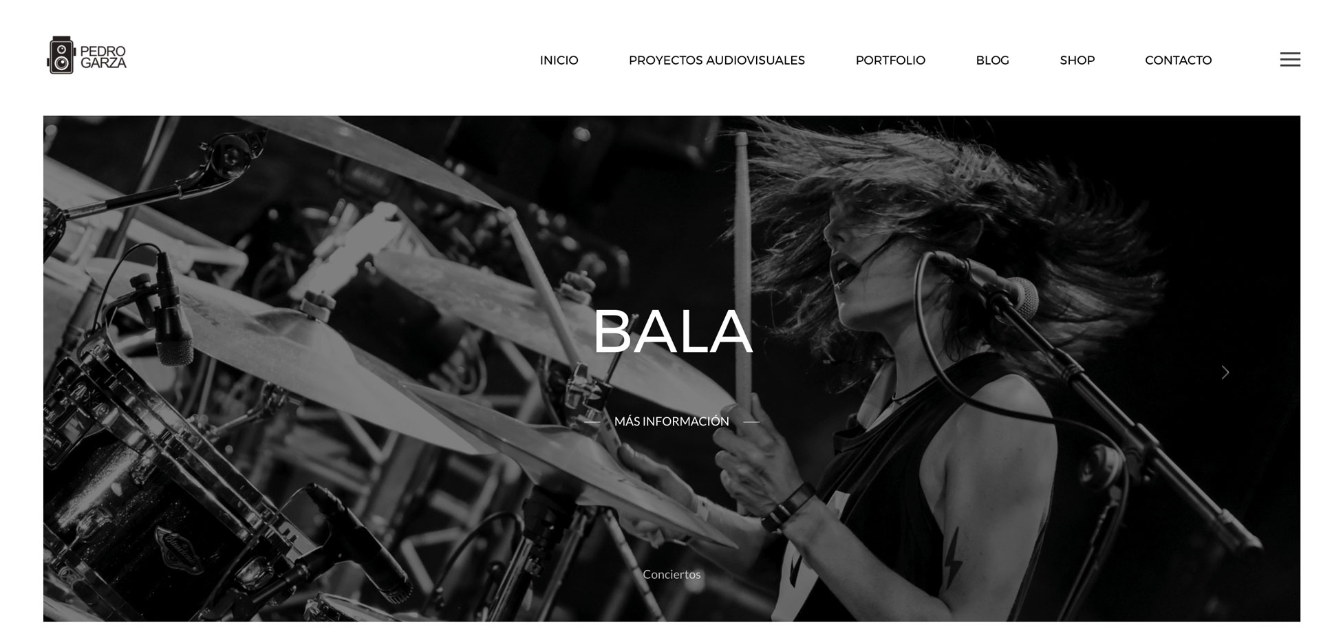 web corporativa de fotógrafo pedro garza audiovisuales en Lugo