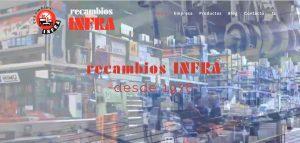 web corporativa de recambiosinfra en Lugo por xeral.net