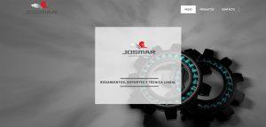 web corporativa de rodamientos josmar diseño de xeral.net